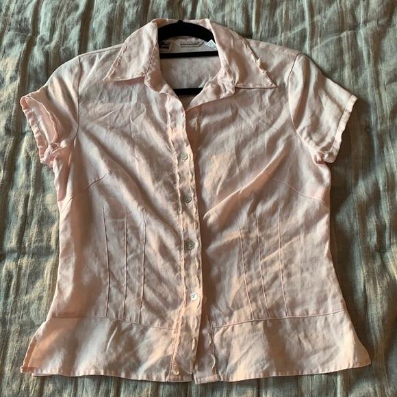 vintage irish linen blouse